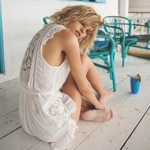 Spell designs isla Bonita paradise white romper